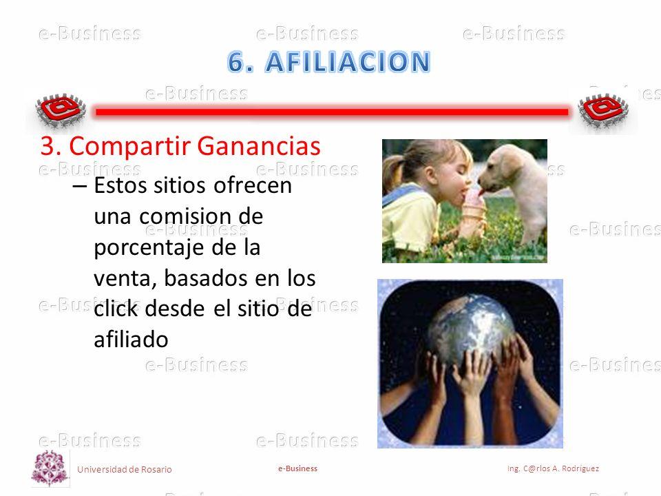 6. AFILIACION 3. Compartir Ganancias