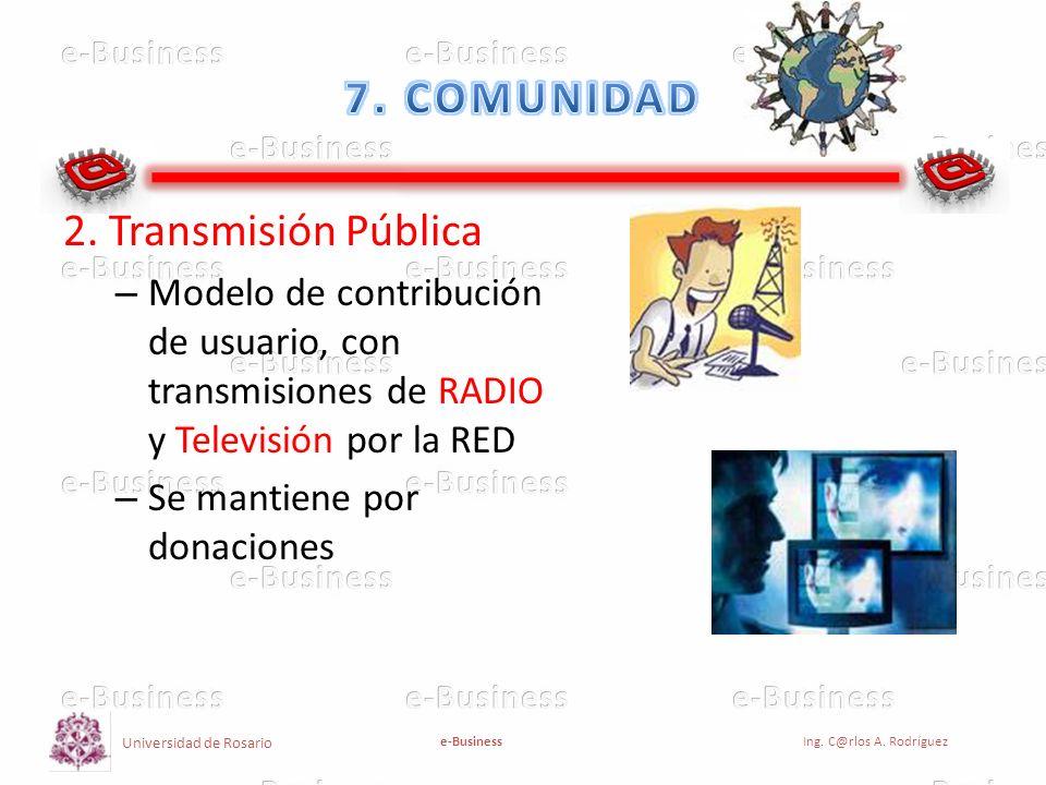 7. COMUNIDAD 2. Transmisión Pública
