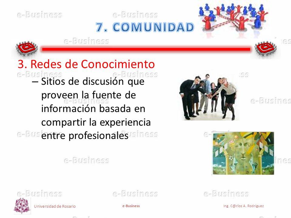 7. COMUNIDAD 3. Redes de Conocimiento