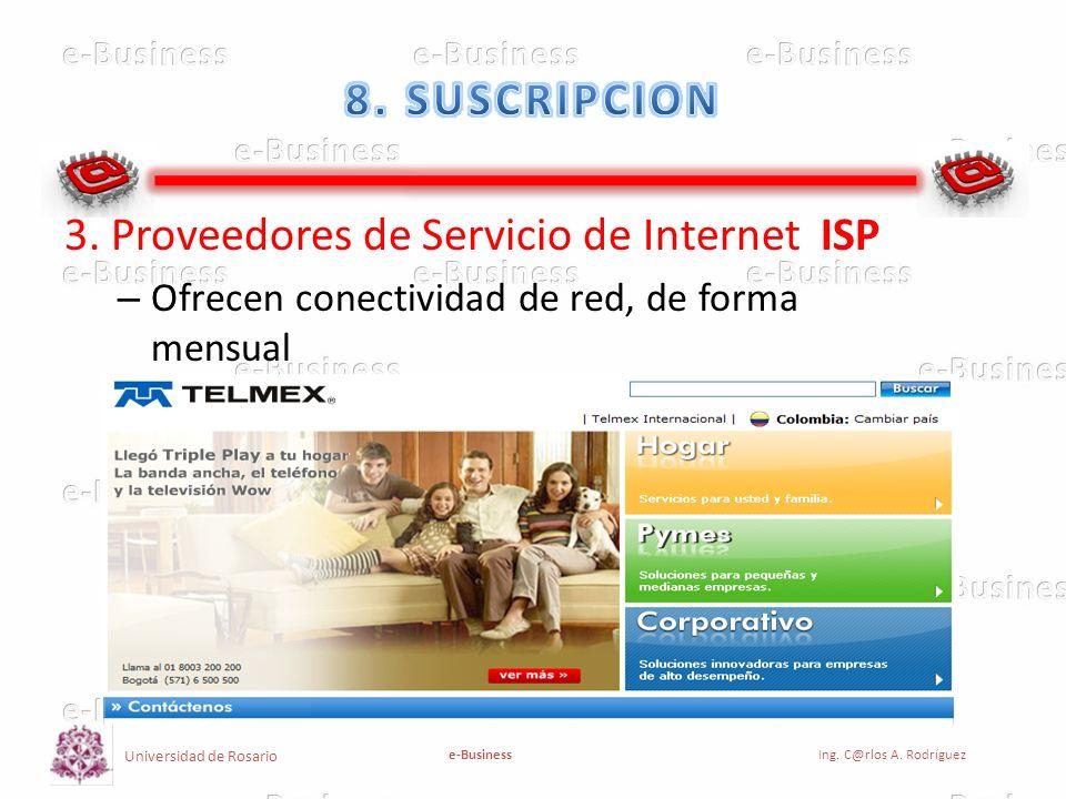 3. Proveedores de Servicio de Internet ISP