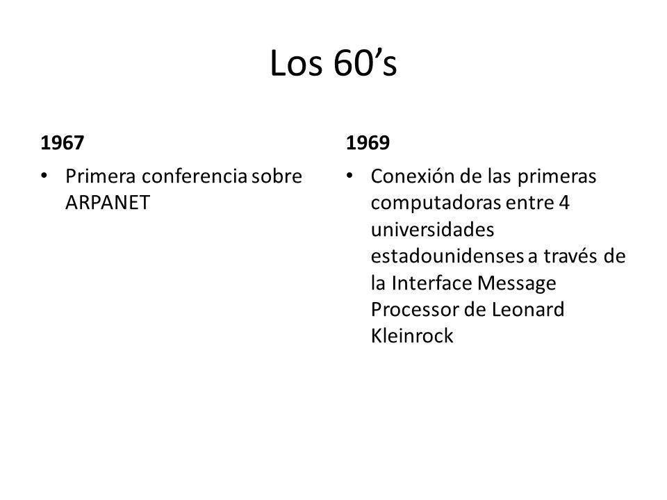Los 60's 1967 1969 Primera conferencia sobre ARPANET