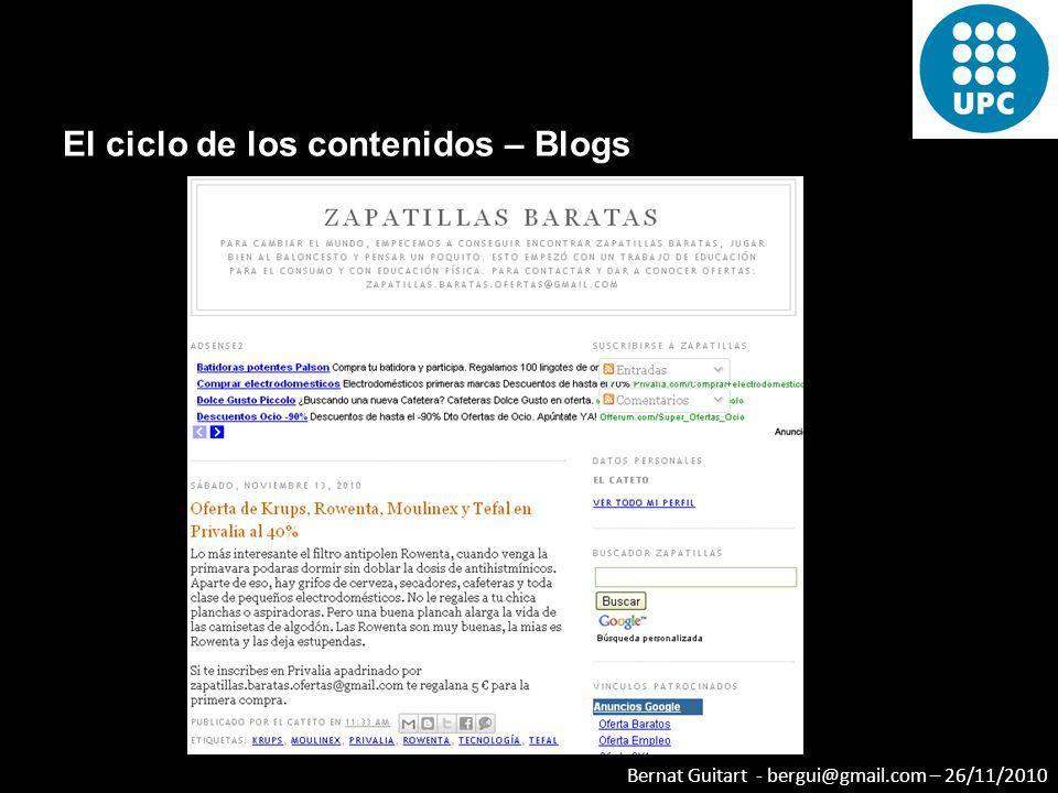 El ciclo de los contenidos – Blogs