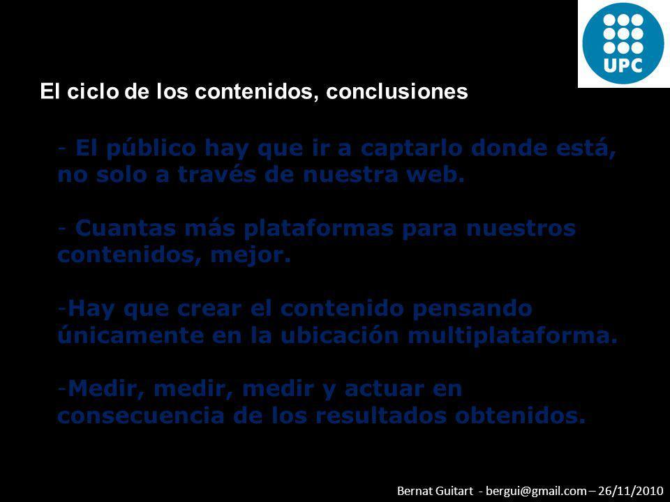 El ciclo de los contenidos, conclusiones