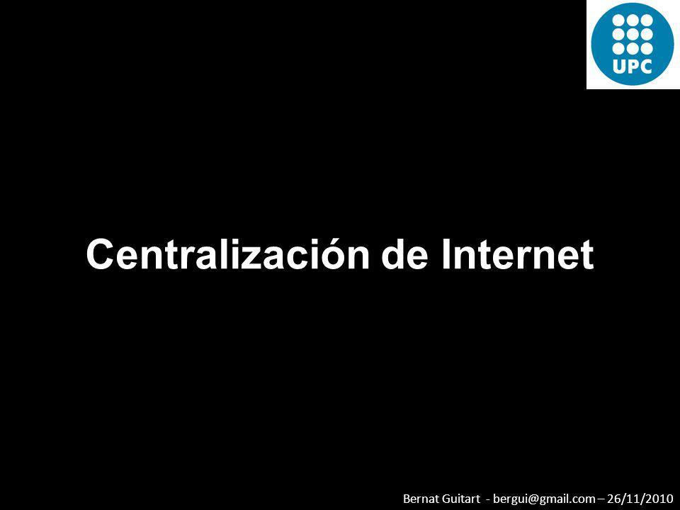 Centralización de Internet