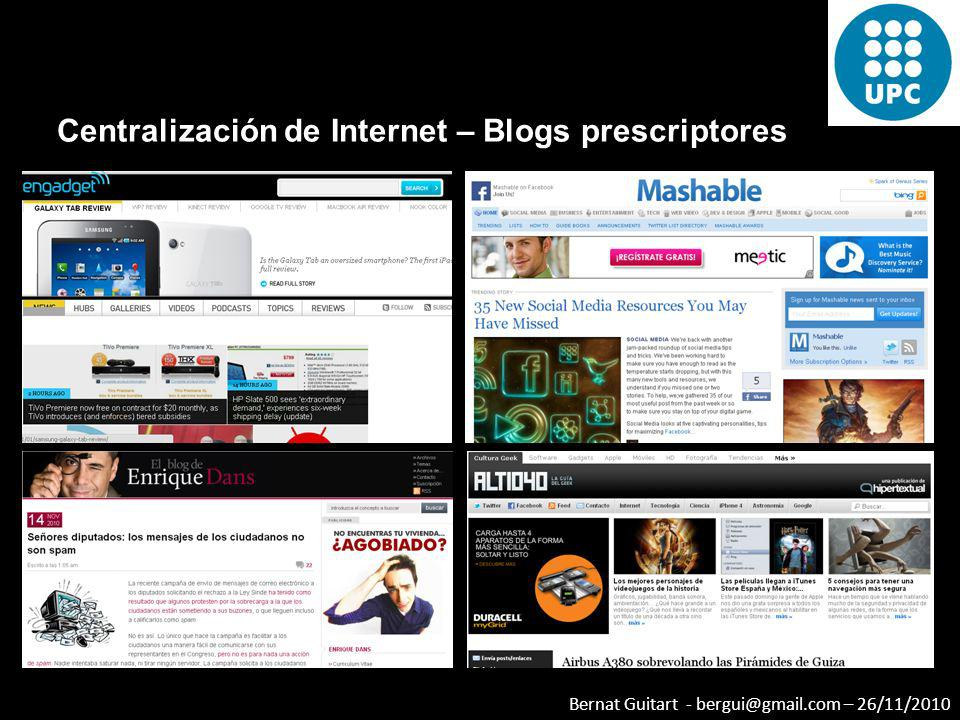 Centralización de Internet – Blogs prescriptores