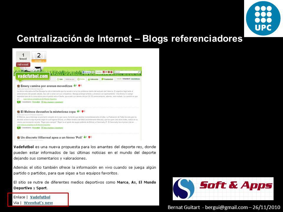 Centralización de Internet – Blogs referenciadores