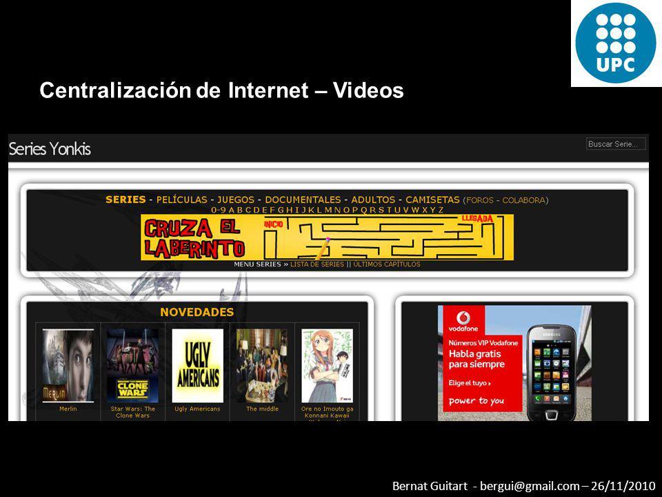 Centralización de Internet – Videos
