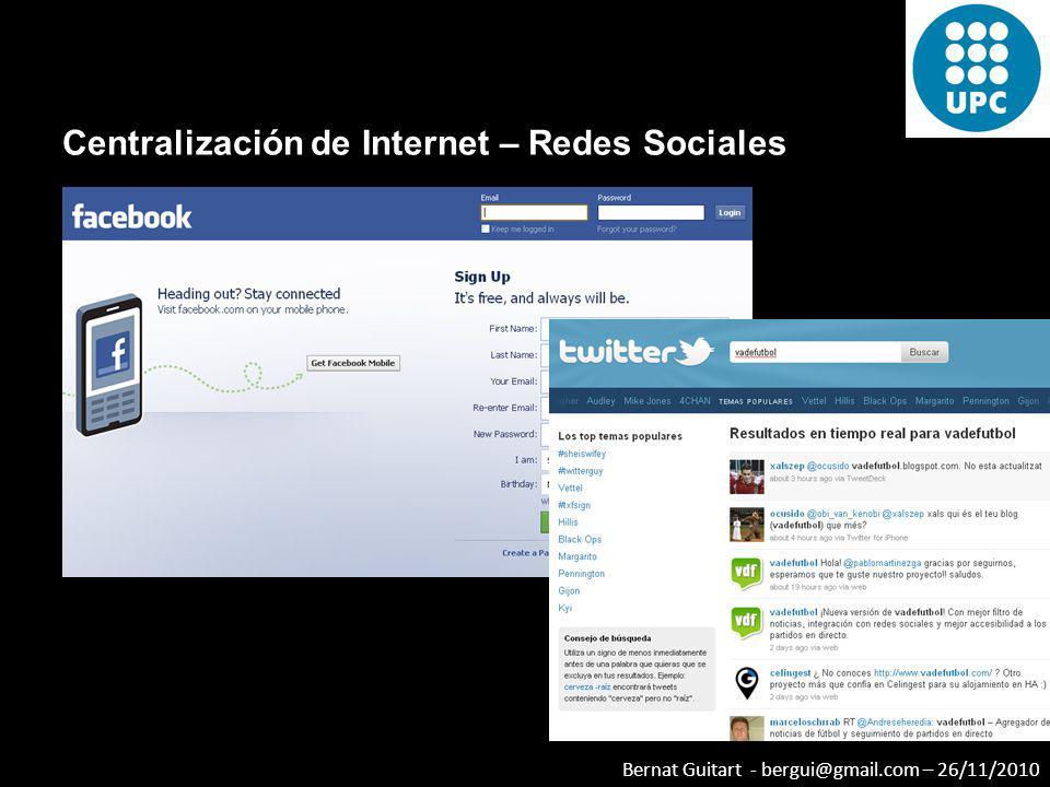 Centralización de Internet – Redes Sociales
