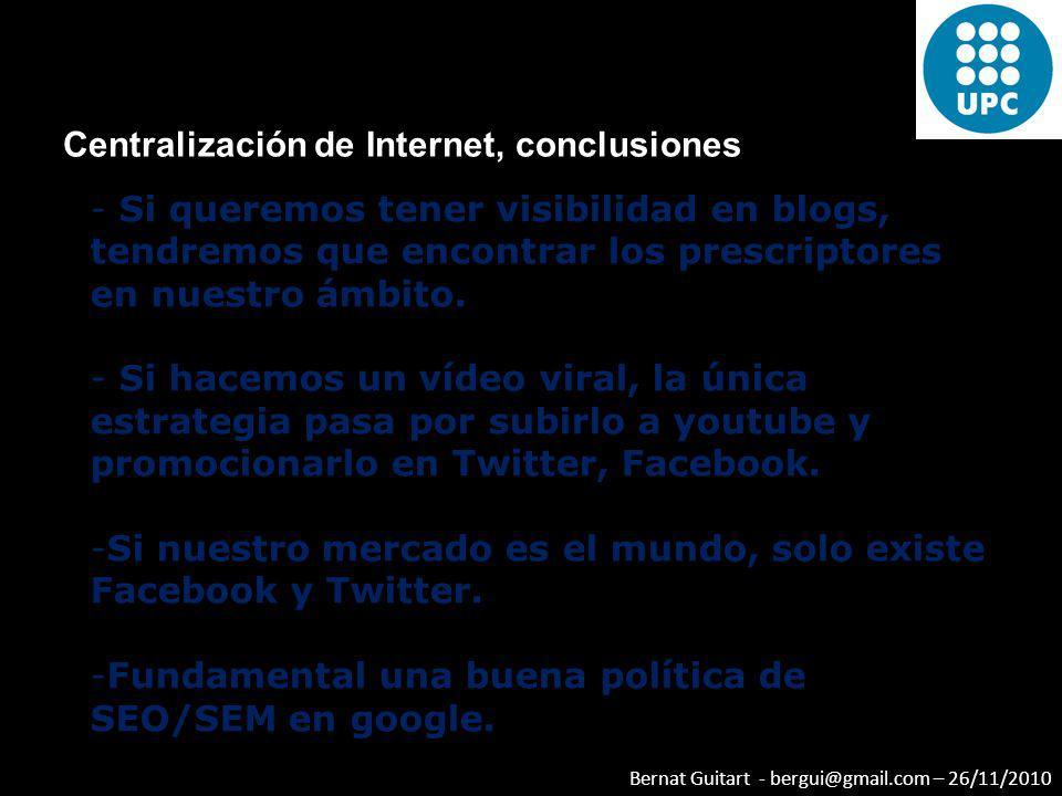 Centralización de Internet, conclusiones