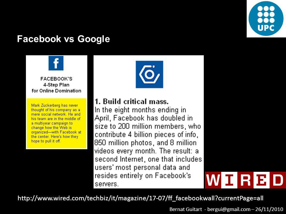 Facebook vs Google http://www.wired.com/techbiz/it/magazine/17-07/ff_facebookwall currentPage=all