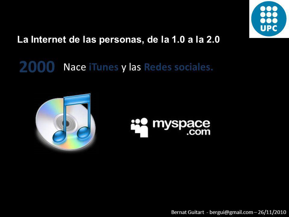 2000 Nace iTunes y las Redes sociales.