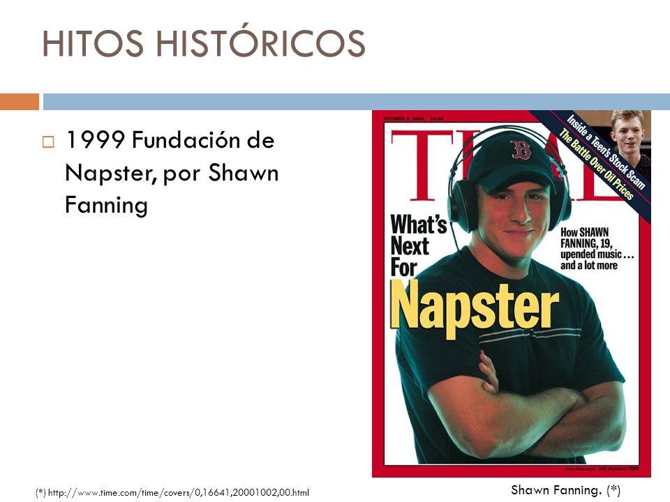 HITOS HISTÓRICOS 1999 Fundación de Napster, por Shawn Fanning