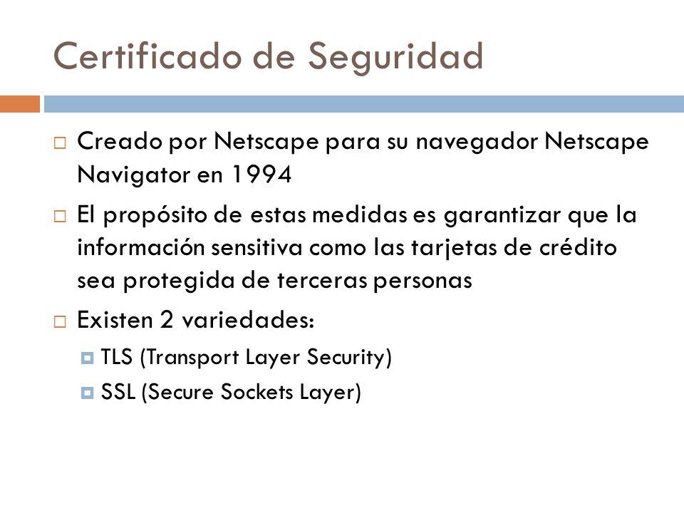 Certificado de Seguridad