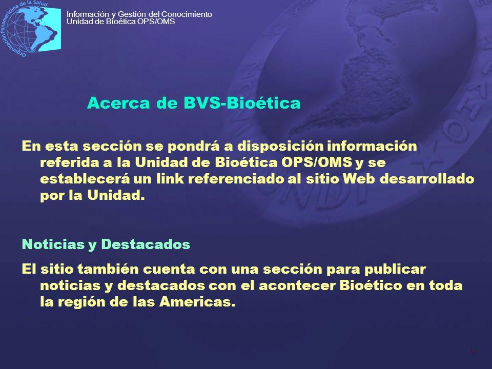 Acerca de BVS-Bioética