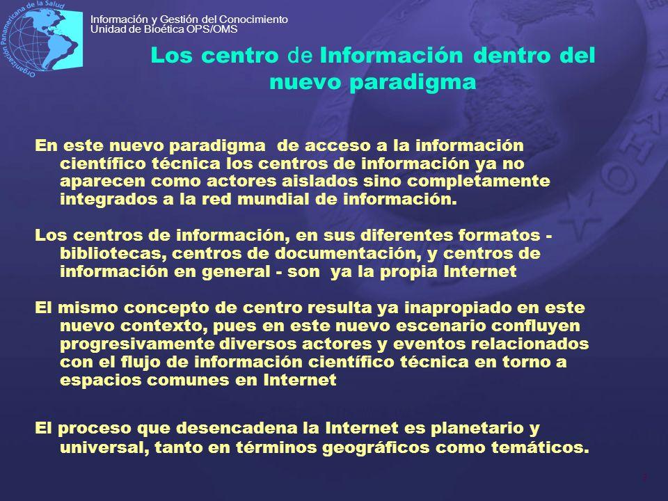 Los centro de Información dentro del nuevo paradigma