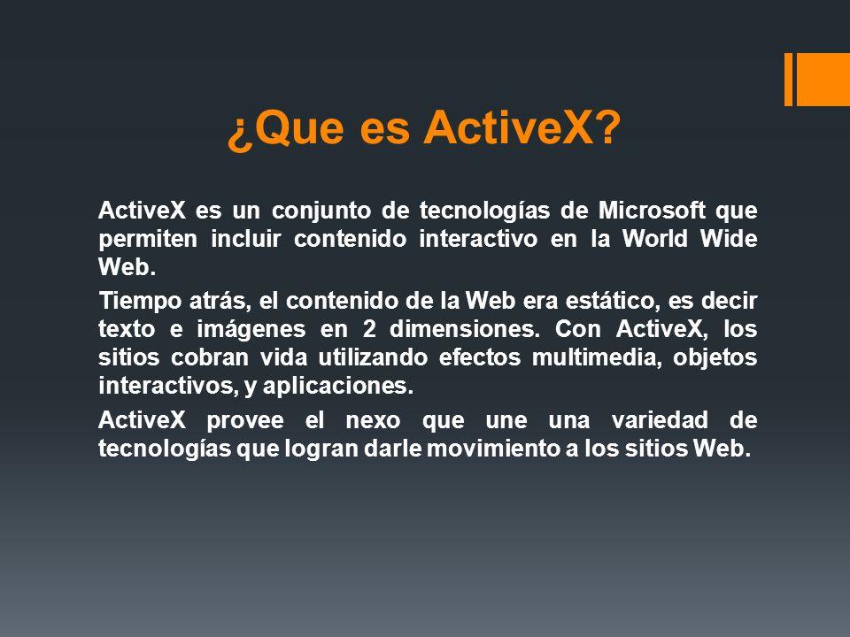¿Que es ActiveX