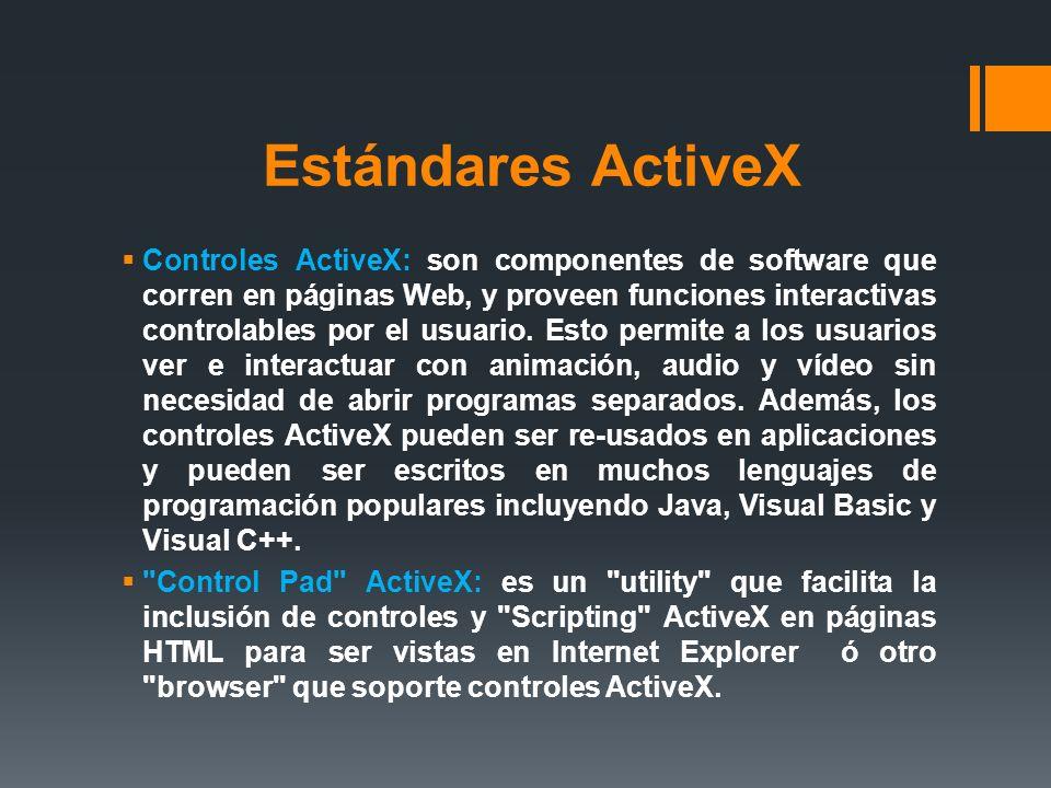 Estándares ActiveX