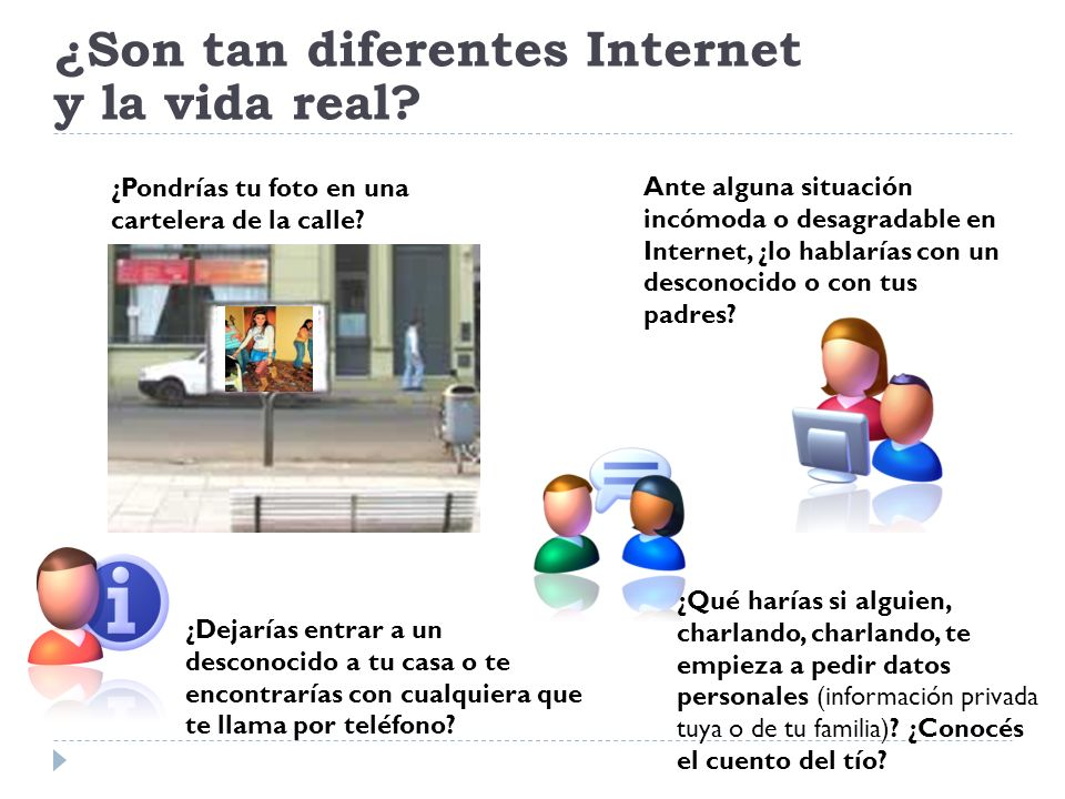 ¿Son tan diferentes Internet y la vida real
