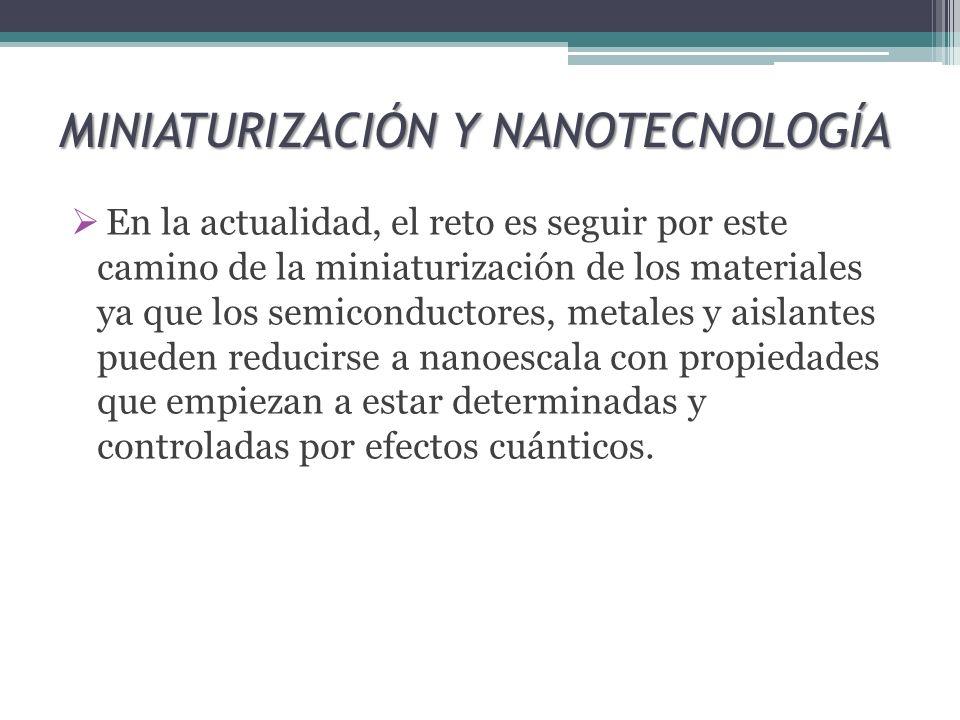 MINIATURIZACIÓN Y NANOTECNOLOGÍA