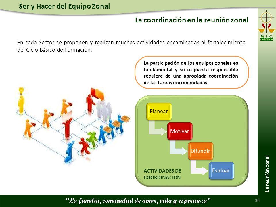 La coordinación en la reunión zonal