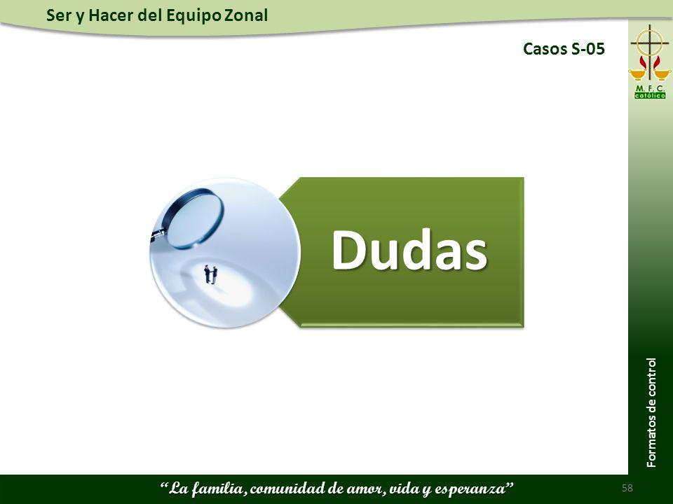 Casos S-05 Dudas Formatos de control