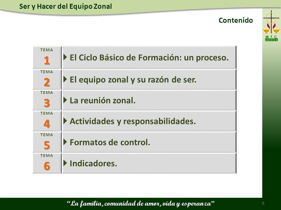1 2 3 4 5 6  El Ciclo Básico de Formación: un proceso.