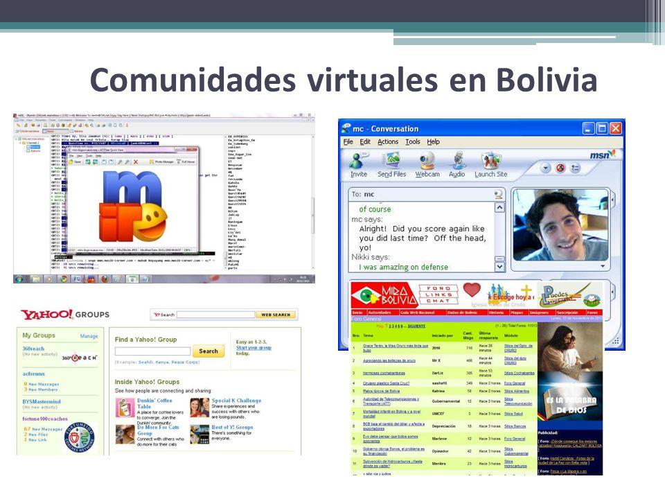 Comunidades virtuales en Bolivia