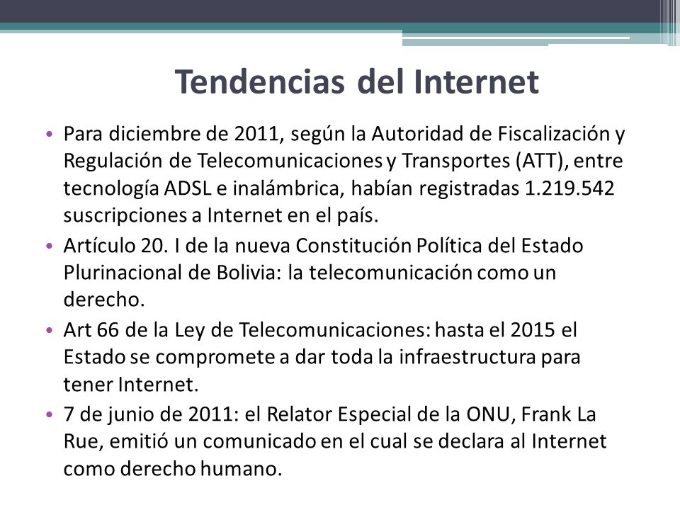 Tendencias del Internet
