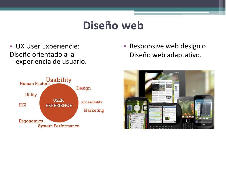 Diseño web Responsive web design o Diseño web adaptativo.