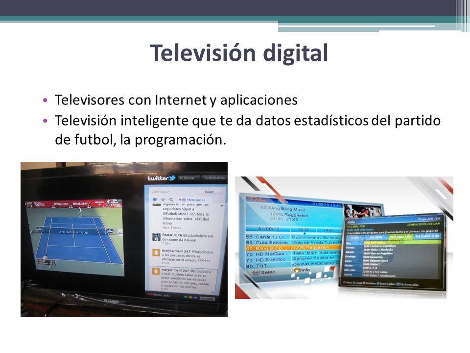 Televisión digital Televisores con Internet y aplicaciones