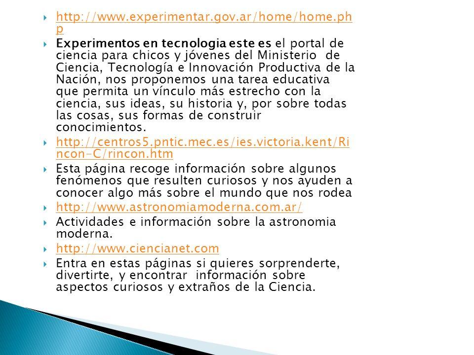 http://www.experimentar.gov.ar/home/home.ph p