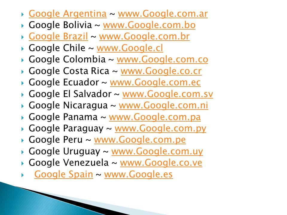 Google Argentina ~ www.Google.com.ar