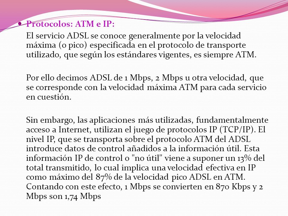 Protocolos: ATM e IP: