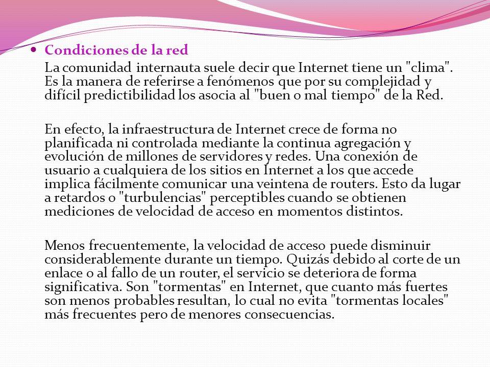 Condiciones de la red