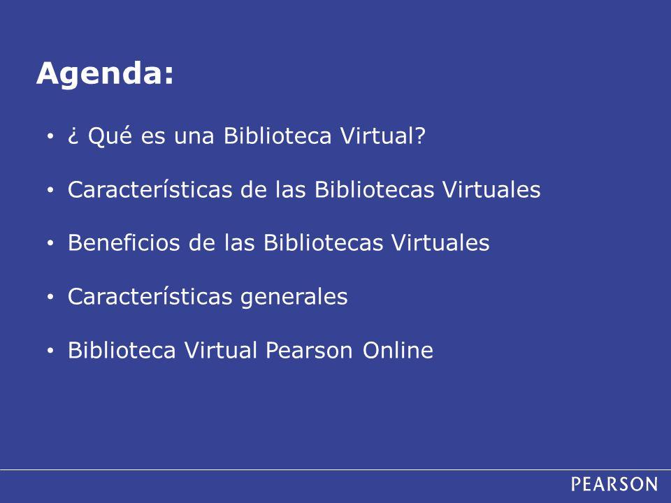 Agenda: ¿ Qué es una Biblioteca Virtual