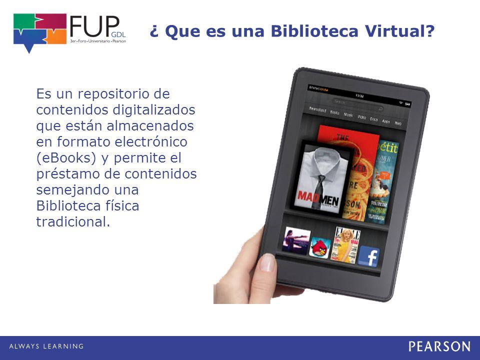 ¿ Que es una Biblioteca Virtual