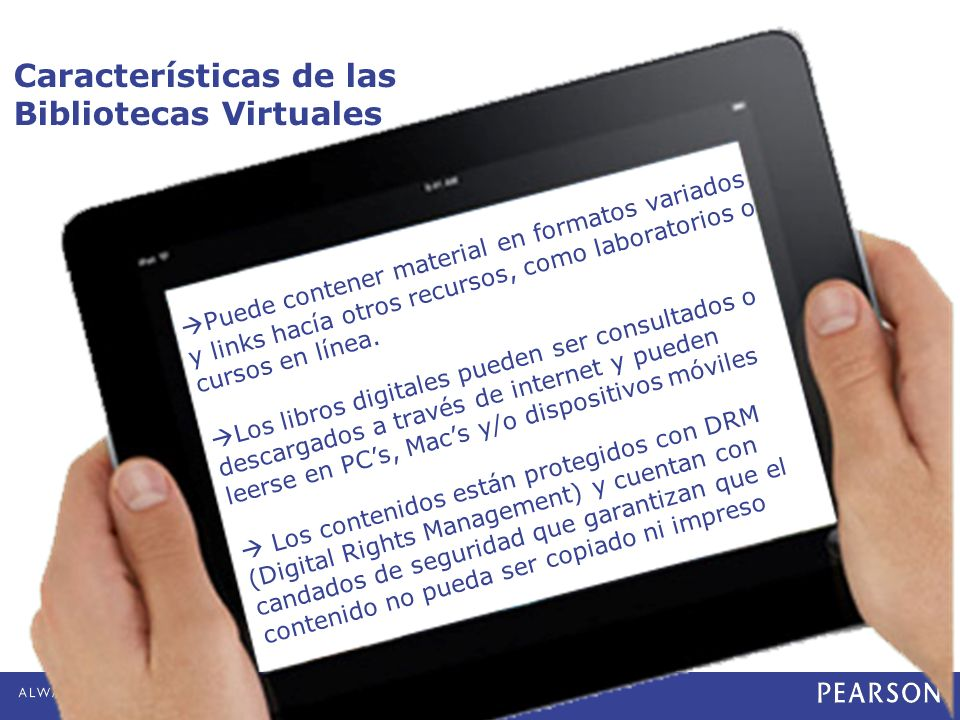 Características de las Bibliotecas Virtuales