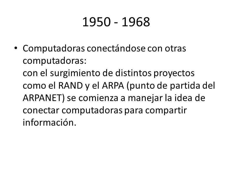 1950 - 1968
