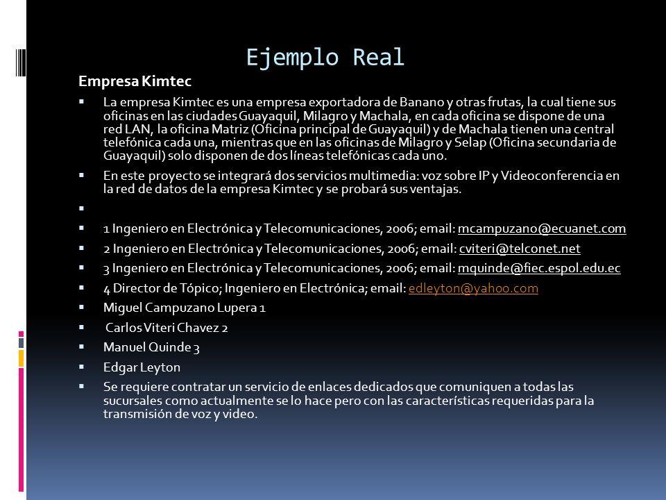 Ejemplo Real Empresa Kimtec