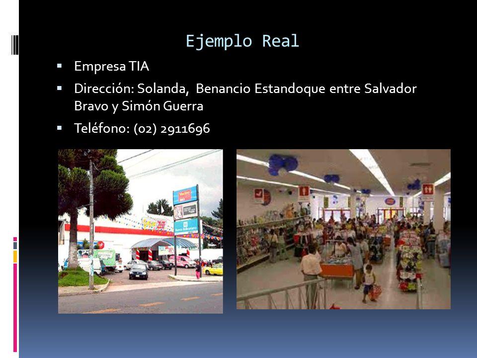 Ejemplo Real Empresa TIA