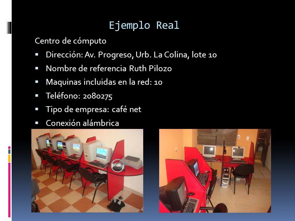 Ejemplo Real Centro de cómputo