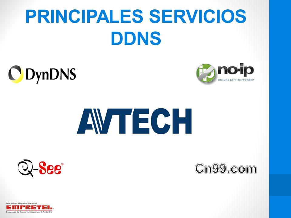 PRINCIPALES SERVICIOS DDNS