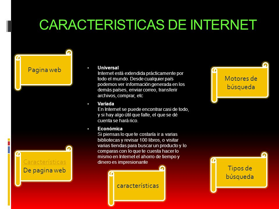 CARACTERISTICAS DE INTERNET