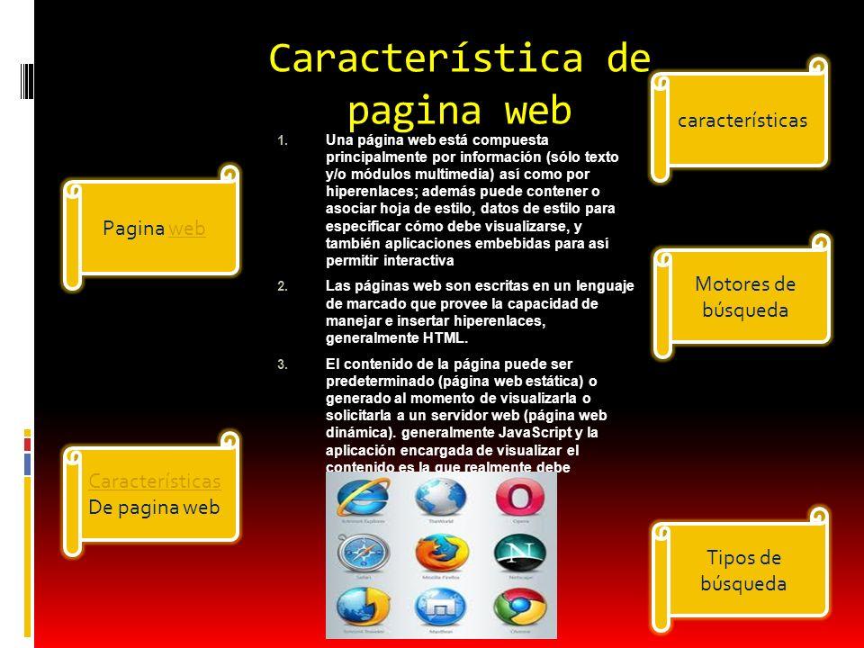 Característica de pagina web