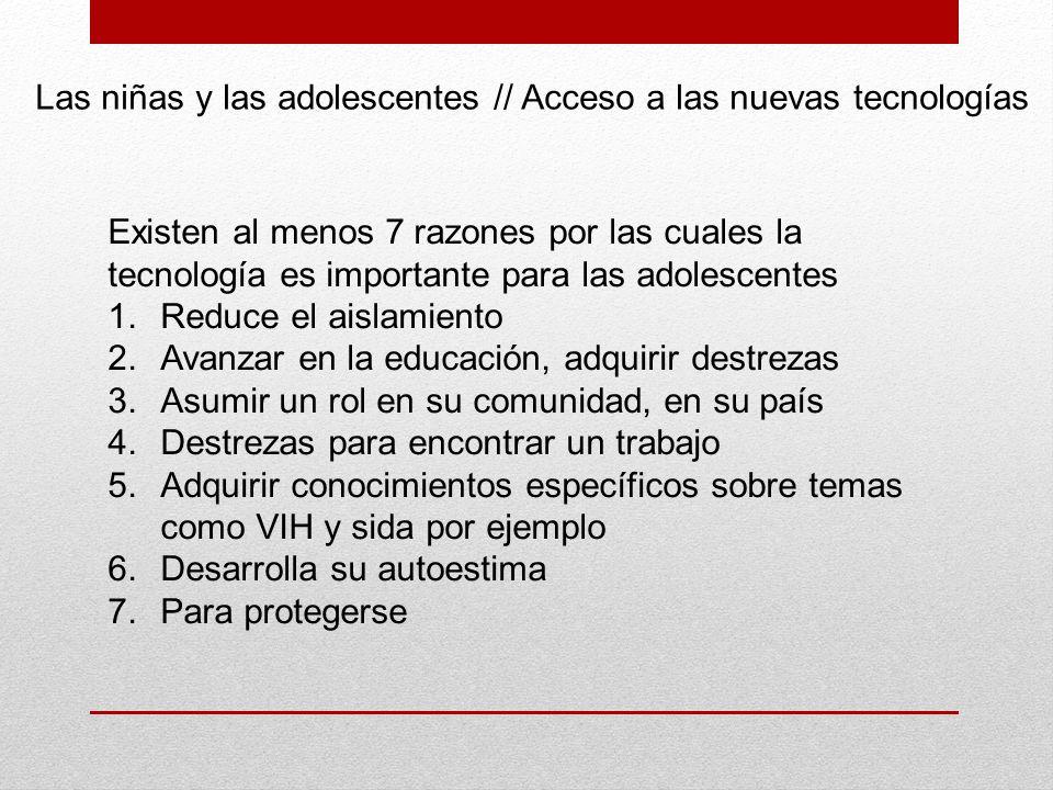 Las niñas y las adolescentes // Acceso a las nuevas tecnologías