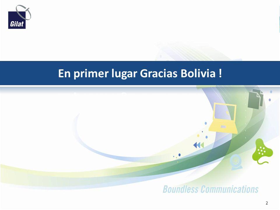 En primer lugar Gracias Bolivia !