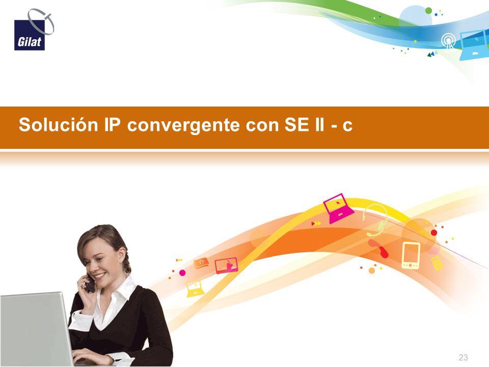 Solución IP convergente con SE II - c