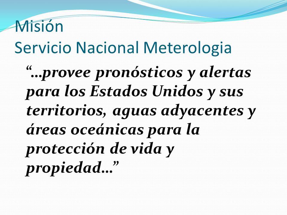 Misión Servicio Nacional Meterologia