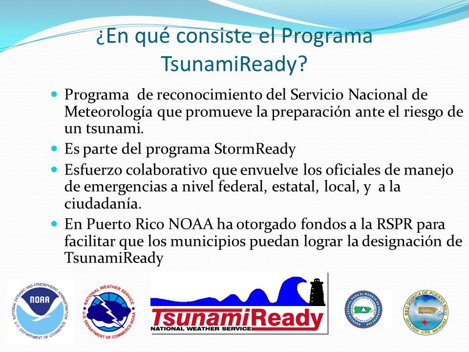¿En qué consiste el Programa TsunamiReady