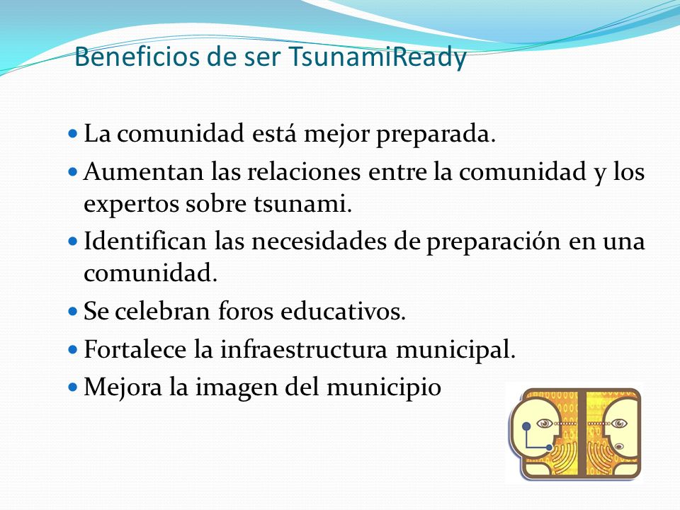 Beneficios de ser TsunamiReady